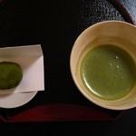 聴水庵 - 料理写真:かぶせ抹茶、霧の森大福