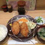 ゆう - 夜は+100円メンチカツ定食1000円