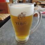 武蔵庵 - ほろ酔いセットの生ビール