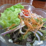 川喜 - 2016.4.29 ひれかつ膳のサラダ