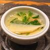 神楽坂 鉄板焼 中むら - 料理写真:ズワイガニとしめじの冷製茶碗蒸し・筍・豆苗・ウルイのお吸い物仕立て