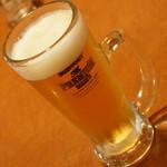 チャ~ボン 多福楼 - 生ビール中ジョッキ(490円→299円+税)2016年4月