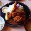本家とんとん亭 - 料理写真:ヒレ&エビ定食(小)(1390円)