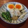 瓢亭 - 料理写真:八寸;瓢亭玉子、鯛の押しずし、菜の花、しらうお