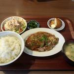 ボンバーキッチン - ポークジンジャー定食(ご飯大盛り)