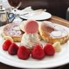 ベイコートカフェ - 料理写真:あまおうパンケーキ