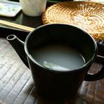 手打ちそば 小椋 - そばと同時に提供される蕎麦湯