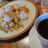 matatabi+ - 料理写真:16/3/21 シナモン+メープルのワッフルセット