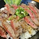 Hawaiian diner HONU - 表面だけをさっと焼いてあります。