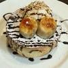 星乃珈琲店 - 料理写真:チョコバナナ スフレパンケーキ(° °)
