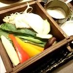 温炊き さんずい - 旬のお野菜せいろ蒸し 830円×2