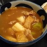 金豚雲 - カレー肉汁うどん小 750円