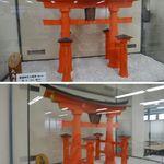 鳥居屋 - 2階団体食堂に置いてある大鳥居の模型。鳥居屋(広島県宮島)食彩品館.jp撮影