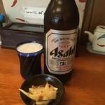 きり - 瓶ビール大650円アサヒ選択