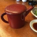 きり - 蕎麦湯
