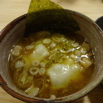 つけ麺屋 やすべえ - つけ麺のつけ汁(水餃子入り)