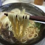 交野きんせい - Wスープ豚骨(750円)麺リフト
