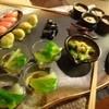 膾炙 - 料理写真:◆前菜・・いつもは一人分ずつ出されますが今回は「大皿」で。 品数もいつもより多目で、ビジュアルもキレイですね。