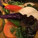 50601942 - 1日の野菜20品目カレー近影