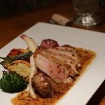 ポアジェ - お肉:豚のロースト マスタードソース