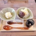 ごはん×カフェ madei - あんみつ、大根アイス