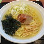 小田原パーキングエリア(下り線)スナックコーナー - 小田原梅と塩ラーメン