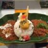 スパイスカレー43 - 料理写真:あいがけカレー