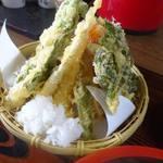 そば処 おおほり - 天盛りそば1400円