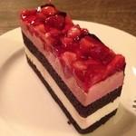 珈琲 文明 - いちごとブルーベリーのケーキ