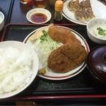 赤兵衛 - ミックスカツ定食