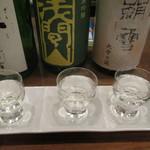 生駒 - お通しの日本酒の見比べセット