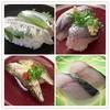 とれとれ市場日本海 - 料理写真:左上からサヨリ、アジ、炙りハタハタ、サワラ