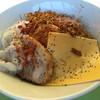 ジャンクガレッジ - 料理写真:まぜそば¥780 / チーズ、辛味、海老マヨ、ベビースター、脂、・・・ブラックペッパーと七味を振ってます