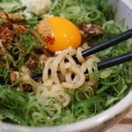 てっぺん - 中の麺と叉焼