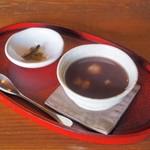 丹三郎 - せいろセット:蕎麦ぜんざい
