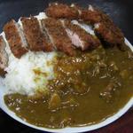 美富士食堂 - 深いカレー皿に山盛りのご飯です! 2012/02
