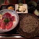 長生庵 - 本鮪の漬け丼セット