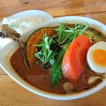 ケラン - ぱりぱりチキンと野菜のスープカレー