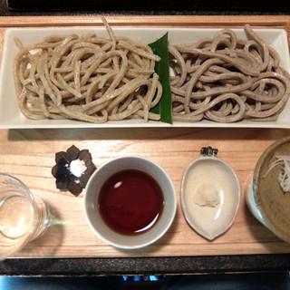 磊庵はぎわら - 料理写真:201605 水萌えと手碾(てびき)の合い盛り(1950円)