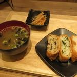 ダテ カフェ オーダー - 朝の三色いなり定食