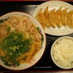 恵比朱 - 餃子定食