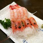 陸中 - 甘えび刺身 ¥500