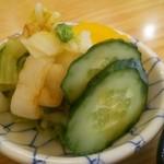 天ぷら 天藤 - 漬物