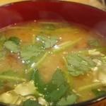 天ぷら 天藤 - なめこの味噌汁