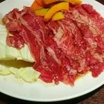 明月館 - ランチのばら肉 3人前分