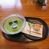 一石庵 - 料理写真:冷 抹茶 季節の菓子付