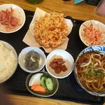50773707 - 桜えび定食(味噌汁はうどんに変更)
