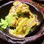 田舎 - 黒蜜ときな粉をかけた抹茶アイスクリーム