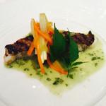 ラ ジュネス - 真鯛のグリル 芹のソース