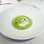 ラ ジュネス - 春豆のクリームスープ